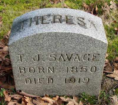 SAVAGE, THERESA JANE - Marion County, Oregon | THERESA JANE SAVAGE - Oregon Gravestone Photos