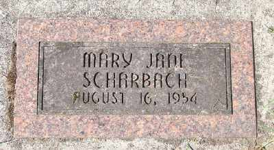 SCHARBACH, MARY JANE - Marion County, Oregon | MARY JANE SCHARBACH - Oregon Gravestone Photos
