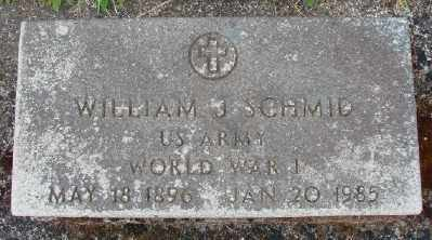SCHMID, WILLIAM J - Marion County, Oregon | WILLIAM J SCHMID - Oregon Gravestone Photos