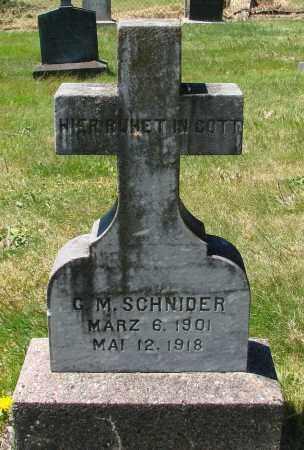 SCHNIDER, G M - Marion County, Oregon   G M SCHNIDER - Oregon Gravestone Photos