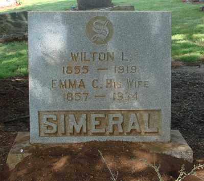 SIMERAL, EMMA C - Marion County, Oregon | EMMA C SIMERAL - Oregon Gravestone Photos