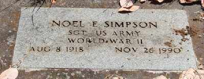 SIMPSON (WWII), NOEL E - Marion County, Oregon | NOEL E SIMPSON (WWII) - Oregon Gravestone Photos