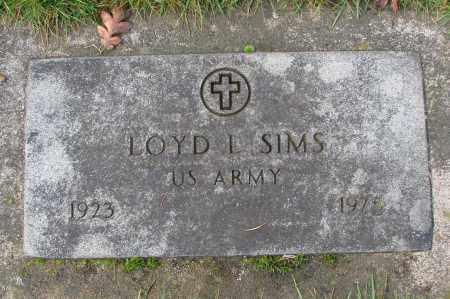 SIMS (SERV), LOYD L - Marion County, Oregon | LOYD L SIMS (SERV) - Oregon Gravestone Photos