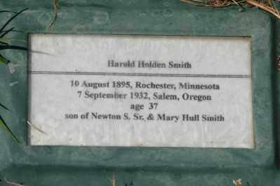 SMITH, HAROLD HOLDEN - Marion County, Oregon   HAROLD HOLDEN SMITH - Oregon Gravestone Photos