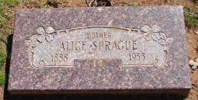 SPRAGUE, ALICE - Marion County, Oregon | ALICE SPRAGUE - Oregon Gravestone Photos