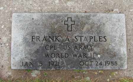 STAPLES (WWII), FRANK A - Marion County, Oregon | FRANK A STAPLES (WWII) - Oregon Gravestone Photos