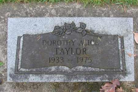 TAYLOR, DOROTHY ALICE - Marion County, Oregon   DOROTHY ALICE TAYLOR - Oregon Gravestone Photos