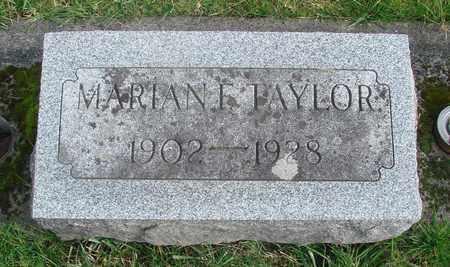TAYLOR, MARIAN F - Marion County, Oregon | MARIAN F TAYLOR - Oregon Gravestone Photos