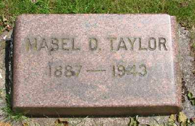 TAYLOR, MABEL D - Marion County, Oregon | MABEL D TAYLOR - Oregon Gravestone Photos
