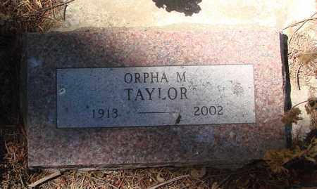 TAYLOR, ORPHA M - Marion County, Oregon | ORPHA M TAYLOR - Oregon Gravestone Photos
