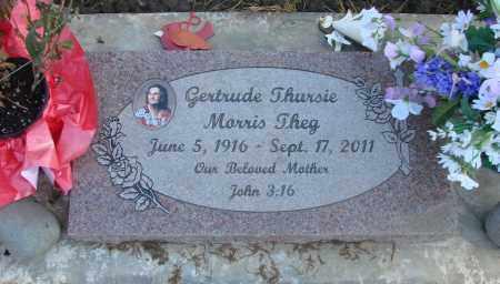 MORRIS, GERTRUDE THURSIE - Marion County, Oregon | GERTRUDE THURSIE MORRIS - Oregon Gravestone Photos