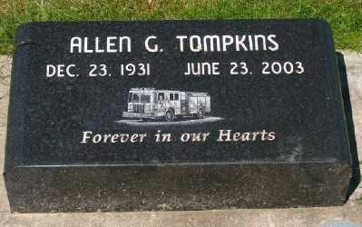 TOMPKINS, ALLEN G - Marion County, Oregon | ALLEN G TOMPKINS - Oregon Gravestone Photos