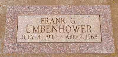 UMBENHOWER, FRANK GLEN - Marion County, Oregon | FRANK GLEN UMBENHOWER - Oregon Gravestone Photos