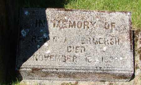 VERMERSH, G A - Marion County, Oregon | G A VERMERSH - Oregon Gravestone Photos