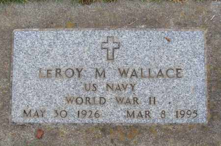 WALLACE (WWII), LEROY M - Marion County, Oregon | LEROY M WALLACE (WWII) - Oregon Gravestone Photos