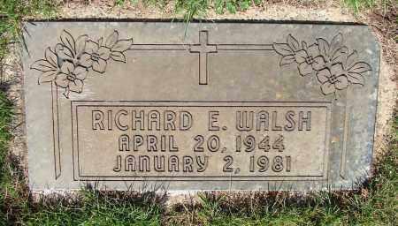 WALSH, RICHARD E - Marion County, Oregon | RICHARD E WALSH - Oregon Gravestone Photos