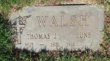 WALSH, JUNE - Marion County, Oregon | JUNE WALSH - Oregon Gravestone Photos
