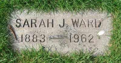 WARD, SARAH J - Marion County, Oregon | SARAH J WARD - Oregon Gravestone Photos