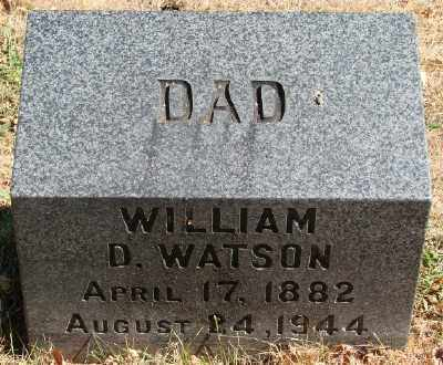 WATSON, WILLIAM D - Marion County, Oregon | WILLIAM D WATSON - Oregon Gravestone Photos