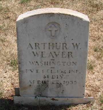 WEAVER (WWI), ARTHUR W - Marion County, Oregon   ARTHUR W WEAVER (WWI) - Oregon Gravestone Photos