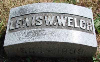 WELCH, LEWIS W - Marion County, Oregon | LEWIS W WELCH - Oregon Gravestone Photos