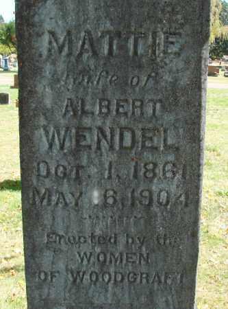 WENDEL, MATTIE - Marion County, Oregon | MATTIE WENDEL - Oregon Gravestone Photos