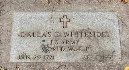 WHITESIDES (WWII), DALLAS E - Marion County, Oregon | DALLAS E WHITESIDES (WWII) - Oregon Gravestone Photos