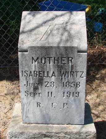 WIRTZ, ISABELLA - Marion County, Oregon   ISABELLA WIRTZ - Oregon Gravestone Photos