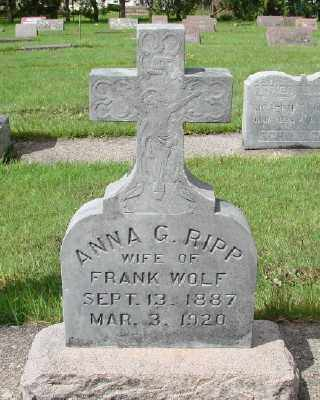 WOLF, ANNA G - Marion County, Oregon | ANNA G WOLF - Oregon Gravestone Photos