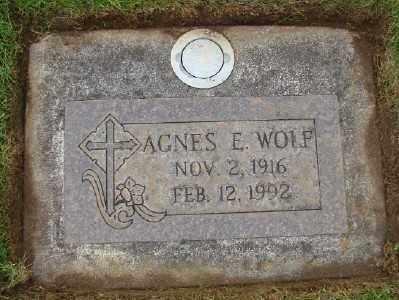WOLF, AGNES E - Marion County, Oregon   AGNES E WOLF - Oregon Gravestone Photos