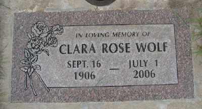 WOLF, CLARA ROSE - Marion County, Oregon | CLARA ROSE WOLF - Oregon Gravestone Photos