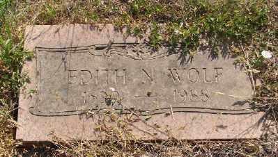 WOLF, EDITH N - Marion County, Oregon   EDITH N WOLF - Oregon Gravestone Photos