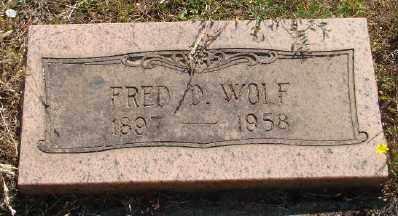 WOLF, FRED DOUGLAS - Marion County, Oregon   FRED DOUGLAS WOLF - Oregon Gravestone Photos
