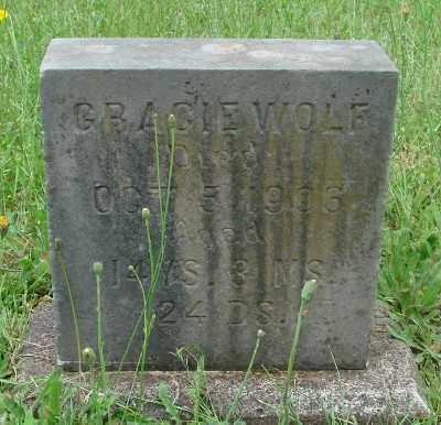WOLF, GRACIE - Marion County, Oregon   GRACIE WOLF - Oregon Gravestone Photos