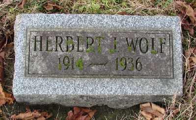 WOLF, HERBERT JAMES - Marion County, Oregon | HERBERT JAMES WOLF - Oregon Gravestone Photos