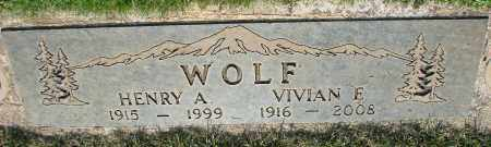 WOLF, HENRY A - Marion County, Oregon   HENRY A WOLF - Oregon Gravestone Photos