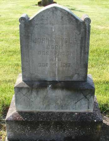 WOLF, JOHN A - Marion County, Oregon | JOHN A WOLF - Oregon Gravestone Photos