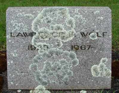 WOLF, LAWRENCE - Marion County, Oregon | LAWRENCE WOLF - Oregon Gravestone Photos