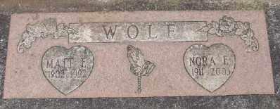 WOLF, NORA E - Marion County, Oregon | NORA E WOLF - Oregon Gravestone Photos