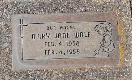 WOLF, MARY JANE - Marion County, Oregon   MARY JANE WOLF - Oregon Gravestone Photos
