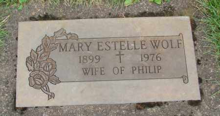 WOLF, MARY ESTELLE - Marion County, Oregon | MARY ESTELLE WOLF - Oregon Gravestone Photos