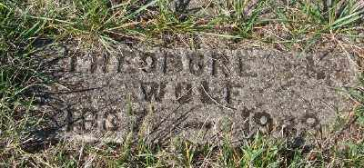 WOLF, THEODORE - Marion County, Oregon   THEODORE WOLF - Oregon Gravestone Photos