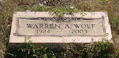 WOLF, WARREN A - Marion County, Oregon   WARREN A WOLF - Oregon Gravestone Photos
