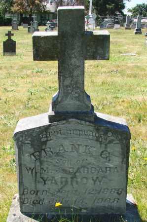 YARROW, FRANK G - Marion County, Oregon | FRANK G YARROW - Oregon Gravestone Photos