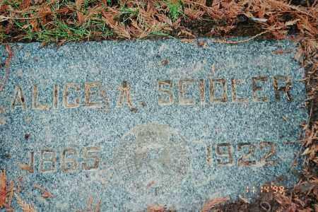 SEIDLER, ALICE A. - Multnomah County, Oregon | ALICE A. SEIDLER - Oregon Gravestone Photos