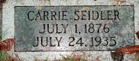 SEIDLER, CARRIE - Multnomah County, Oregon | CARRIE SEIDLER - Oregon Gravestone Photos