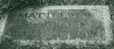 SPACKMAN, MATTHEW BROWN - Multnomah County, Oregon   MATTHEW BROWN SPACKMAN - Oregon Gravestone Photos