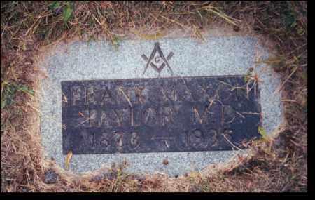 TAYLOR, FRANK MAXON - Multnomah County, Oregon | FRANK MAXON TAYLOR - Oregon Gravestone Photos