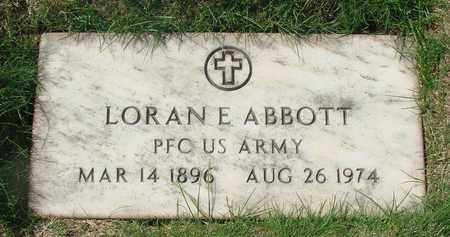 ABBOTT, LORAN E - Polk County, Oregon | LORAN E ABBOTT - Oregon Gravestone Photos