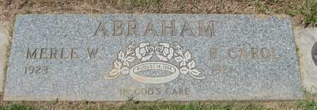 ABRAHAM, MERLE W - Polk County, Oregon   MERLE W ABRAHAM - Oregon Gravestone Photos